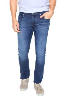 Calça Jeans Lacoste Slim Basic Azul