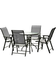 Conjunto Para Área Externa Brasil Com 1 Mesa E 4 Cadeiras
