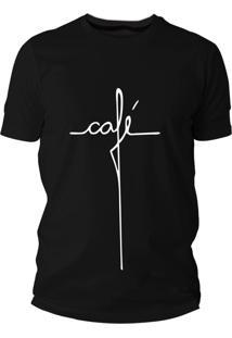 Camiseta Criativa Urbana Café Frases Divertidas Meme Preta