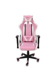 Cadeira Gamer Pro Eaglex Giratoria Reclinavel Rosa E Branca