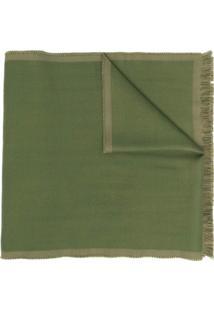 Alexander Mcqueen Cachecol De Lã Com Aplicação De Logo - Verde