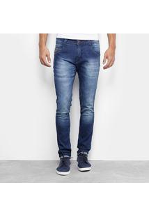 Calça Biotipo Skinny Stone Masculina - Masculino-Jeans