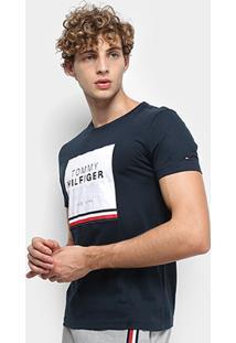 Camiseta Tommy Hilfiger New York Masculina - Masculino-Marinho