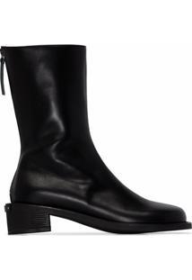 Osoi Ankle Boot Toboo 40 De Couro Preta - Preto