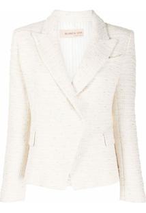Blanca Vita Blazer De Tweed Com Abotoamento Simples - Branco
