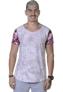 Camiseta Triztam Long Line Lotus Vermelho