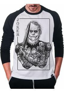 Camiseta Raglan Coringa Joker Clássico Masculina - Masculino