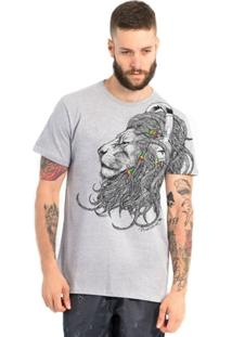Camiseta Lion Dreadlocks Maresia - Masculino