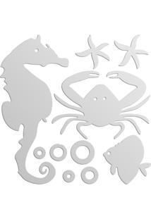 Espelho Decorativo Animais Marinhos 50X50 My Sticker