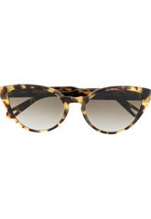 Chloé Eyewear Óculos De Sol Willow - Marrom