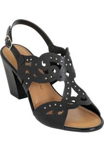 Sandália Dakota Preto Com Corte A Laser