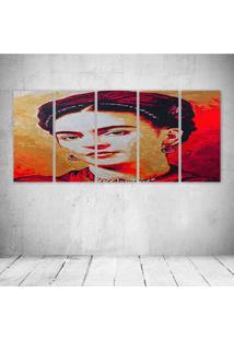 Quadro Decorativo - Frida (13) - Composto De 5 Quadros - Multicolorido - Dafiti