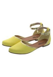 Sapatilha Romântica Calçados Salomé Amarelo