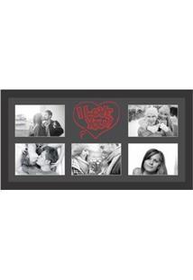 Painel De Fotos Kapos I Love You Para 5 Fotos 10X15Cm – Preto