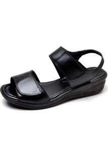Sandalia Papete Feminina Conforto Top Franca Shoes Preto