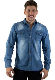 Camisa Rioutlet Social/Casual Jeans