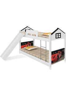 Beliche Baixa Casa Carro Red Com Escorregador Casah - Branco - Menino - Dafiti