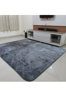 Tapete Aveludado 3D Estampado Prata 2,00Mx2,50M Textil Design