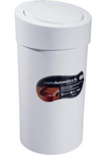 Lixeira Automatica 9,0 Litros Branco Coza