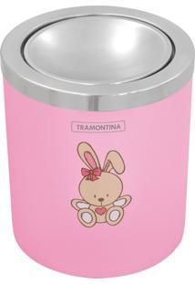 Lixeira Infantil 5L De Plástico Com Tampa Basculante. Rosa, Le Petit - Tramontina