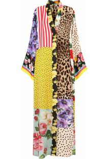 Dolce & Gabbana Vestido Gola V Com Recortes - Amarelo
