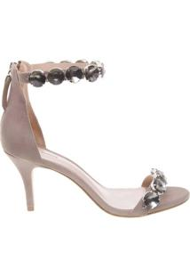 Sandália Crystal Ankle Strap Dove | Schutz