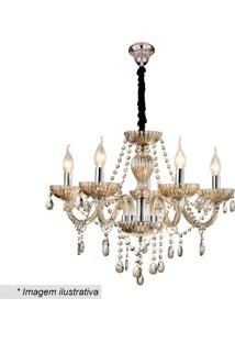 Lustre Valentina- Cristal & Champanhe- 60Xø47Cm-Hevvy