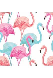 Papel De Parede Adesivo Flamingos (0,58M X 2,50M)