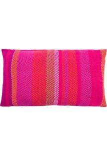 Capa De Almofada Listras Cor: Rosa Pink - Tamanho: Único