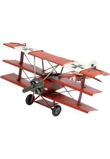 Enfeite Retrô Minas De Presentes Avião Vermelho - Kanui