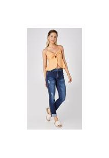 Calça Jeans Express Tradicional Marta Azul