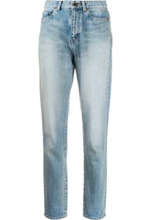 Saint Laurent Calça Jeans Cenoura Slim - Azul