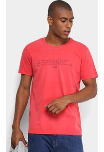Camiseta Forum Estampada Masculina - Masculino-Vermelho