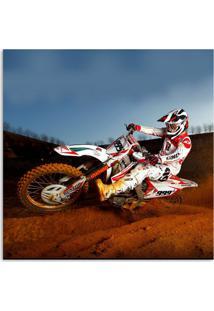 Quadro Moto Uniart Branco 45X45Cm