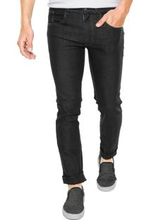 Calça Jeans Rock Blue Slim Lisa Preta