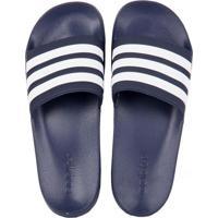 fd4cf85cbc1 Chinelo Adidas Slide Adilette Shower Azul Branco 38 39