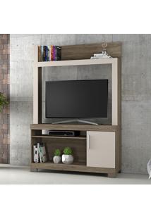 Estante Para Tv Até 43 Polegadas 1 Porta Nt 1020 Canela/Areia - Notavel