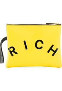 John Richmond Junior Clutch Com Estampa De Logo - Amarelo