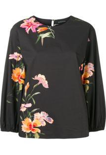 Etro Blusa Floral - Preto