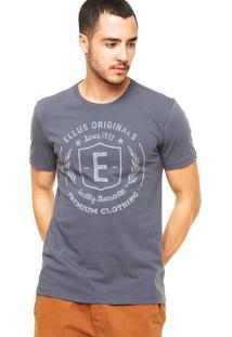 Camiseta Ellus Brasão Azul