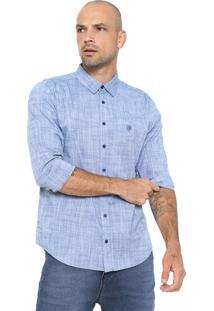 Camisa Cavalera Reta Mescla Azul