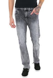 Calça Jeans Ride Skateboard Slim Estonada Cinza