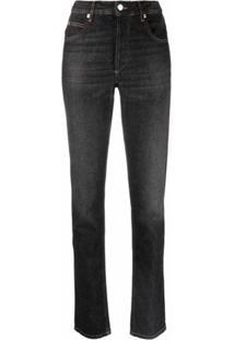 Isabel Marant Étoile High-Rise Slim-Fit Jeans - Preto
