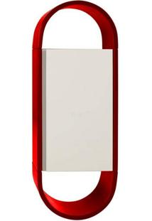 Armário Para Banheiro Wish 1Pt Vermelho E Branco