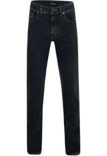 Calça Jeans Pierre Cardin Drive Masculina - Masculino-Preto