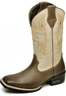 Bota Country Top Franca Shoes Country - Feminino-Marrom