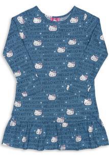 Camisola Hello Kitty Adulto Azul