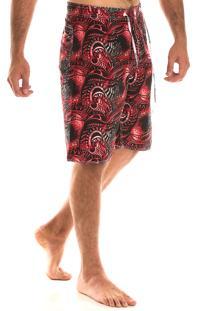 Bermuda Konciny Surf Colorido Vermelho