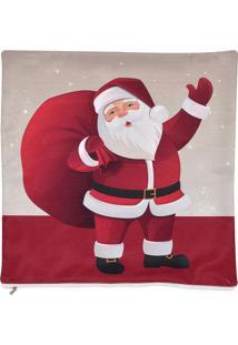 Capa De Almofada Natal- Bege & Vermelha- 45X45Cmmabruk