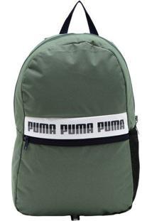 Mochila Puma Phase Ii Logo Verde